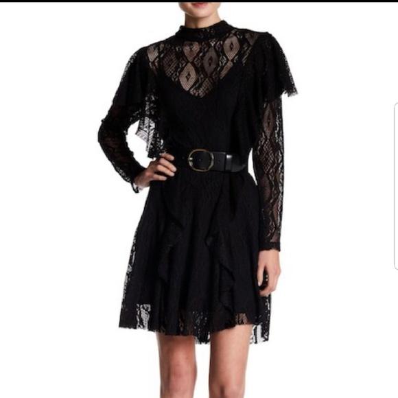 392df4ee518 Free People black lace dress NWT